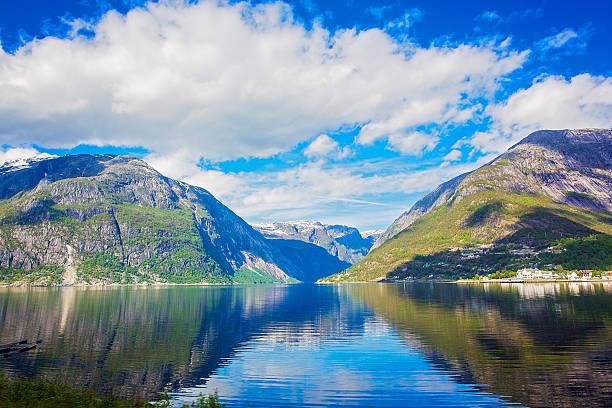 Fjord Landschaft – Foto