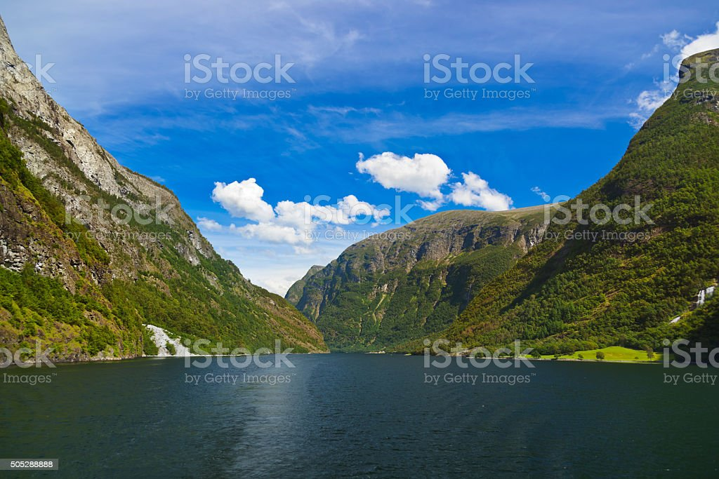 Fjord Sognefjord - Norway stock photo