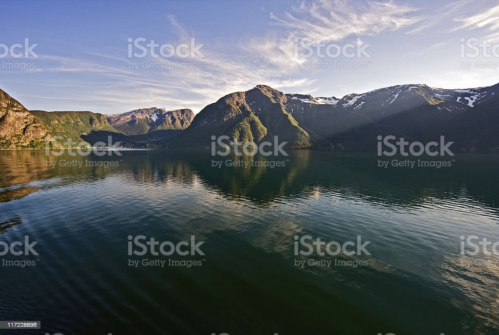 Fjord view, Norway royalty-free stock photo