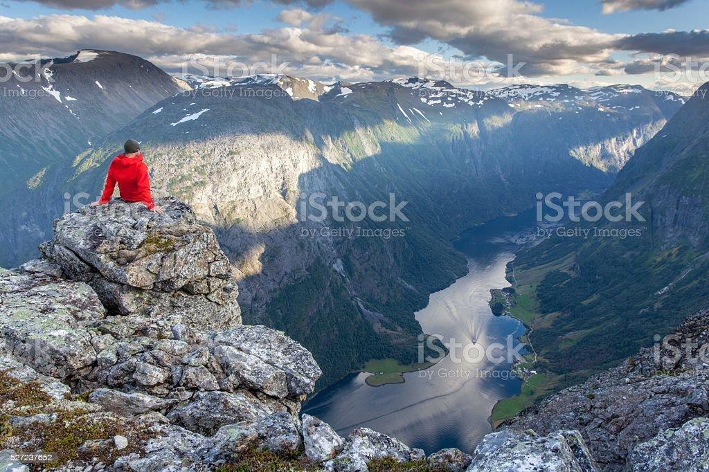 Fjord view stock photo