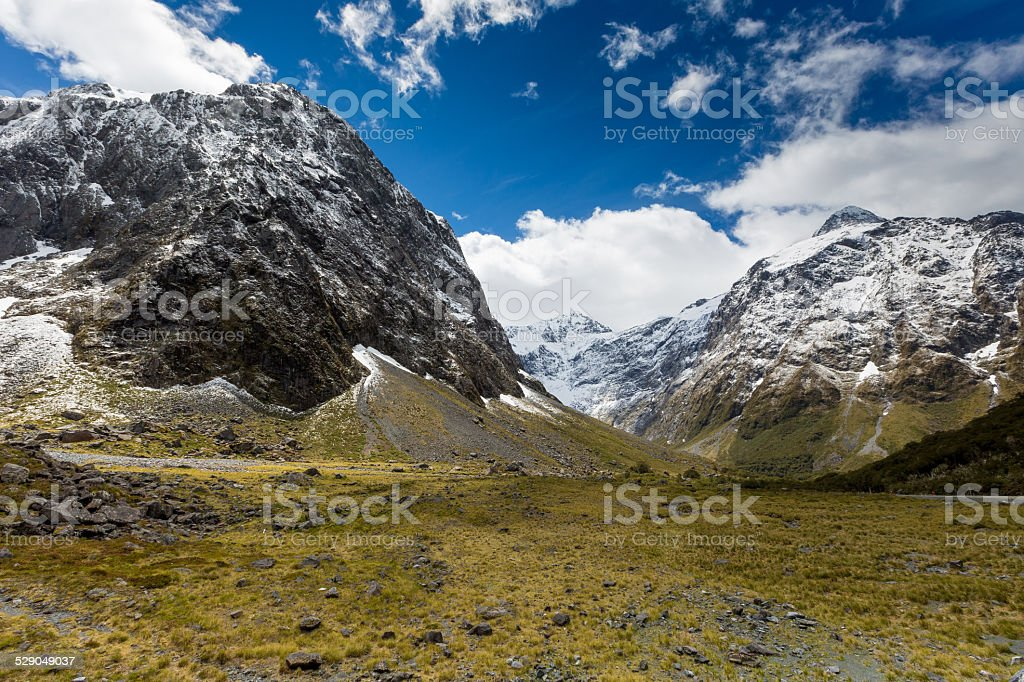 Fjordland National Park, Southern Alps, New Zealand stock photo