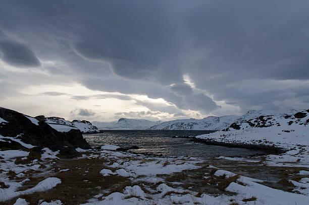Fjords in Winter stock photo