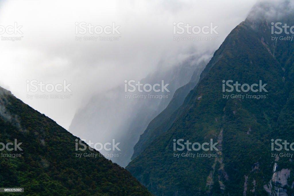 Fjords of Milford Sound, New Zealand zbiór zdjęć royalty-free