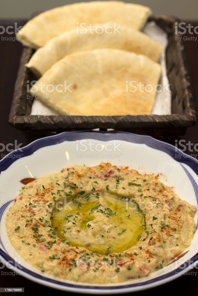 Fūl Medammis with Bread royalty-free stock photo