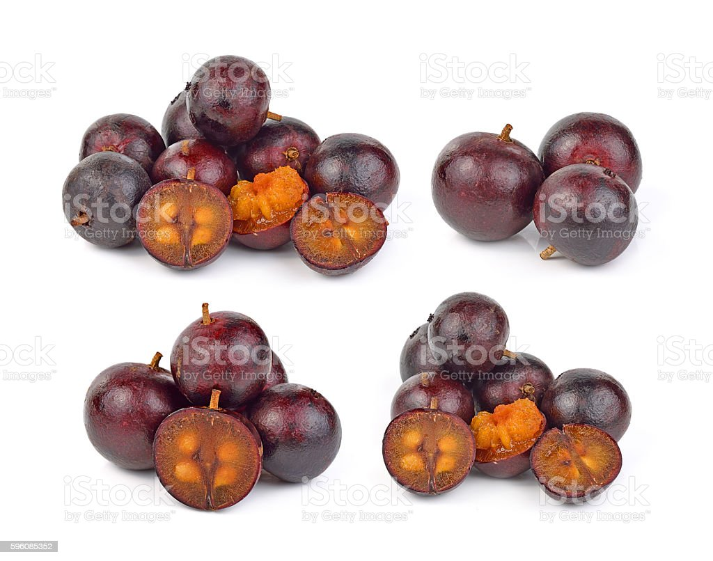 Flacourtia fruit on white background royalty-free stock photo