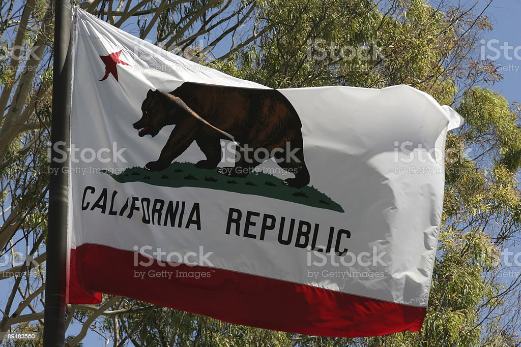 Bandera de california 1 - foto de stock