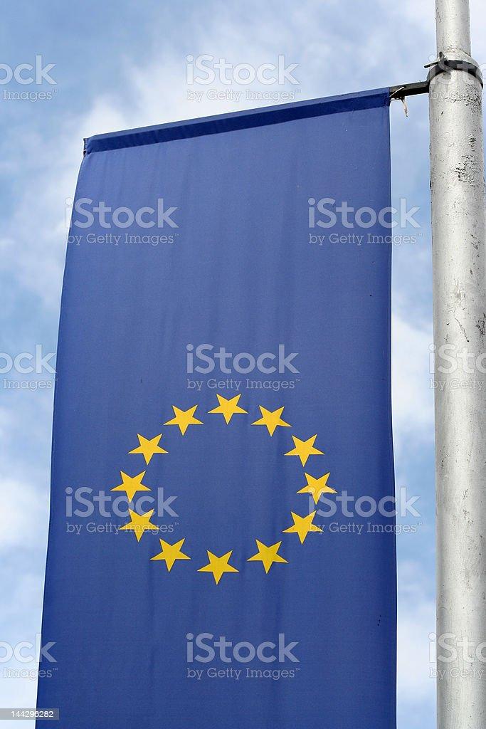 EU Flag 2 royalty-free stock photo