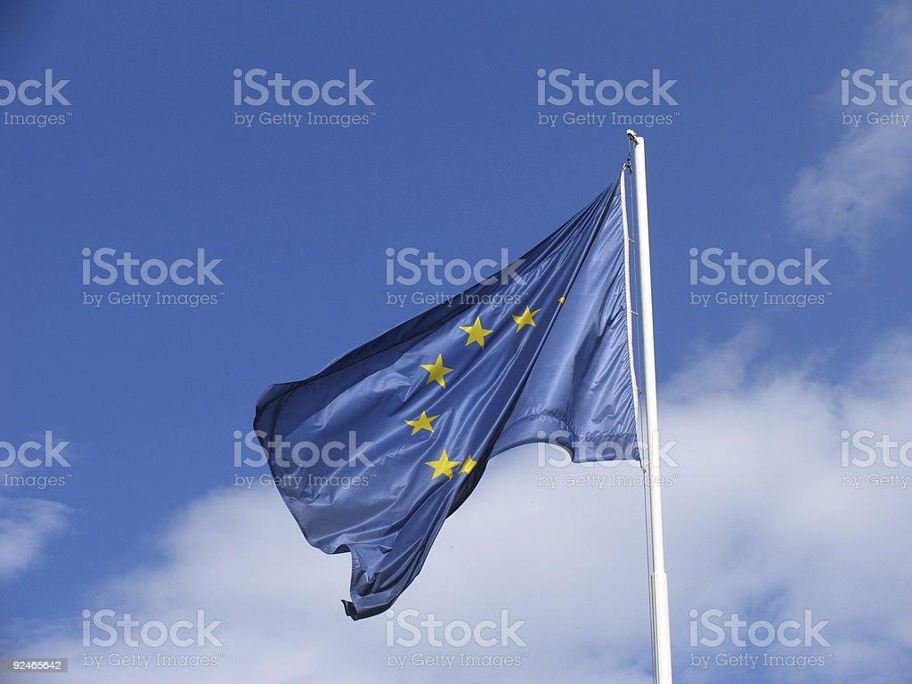 EU (European Union) flag 2/2 royalty-free stock photo
