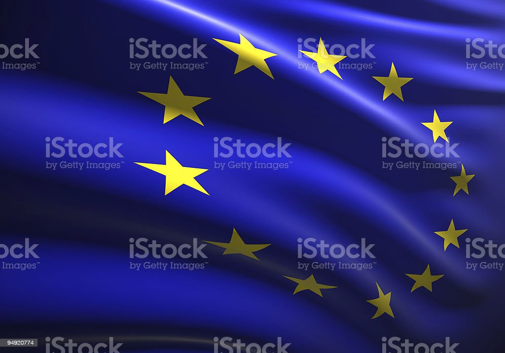 EU flag 3D stock photo