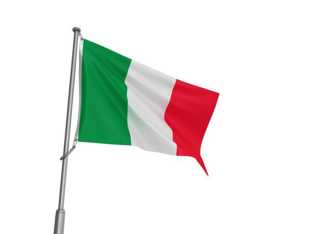 ITALIENISCHE Flagge - 3D Rendering – Foto