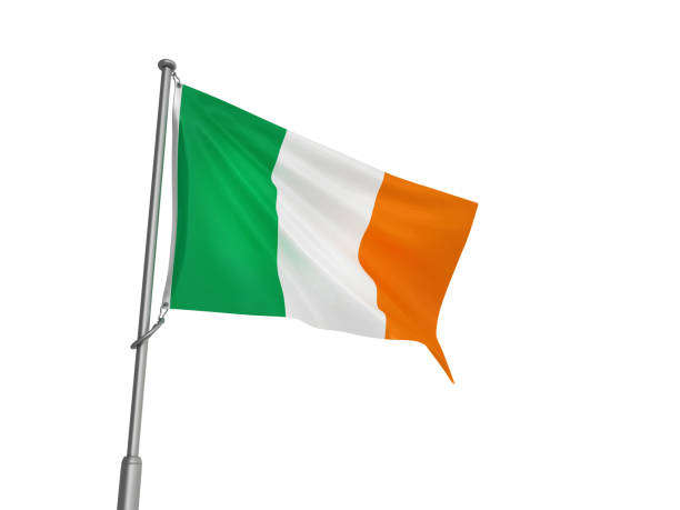 IRISH-Flag - 3D-Rendering – Foto