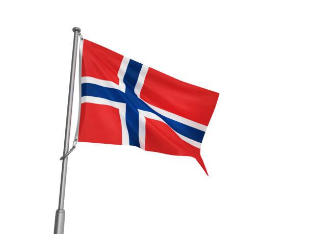 NORWEGIAN-Flag - 3D-Rendering – Foto