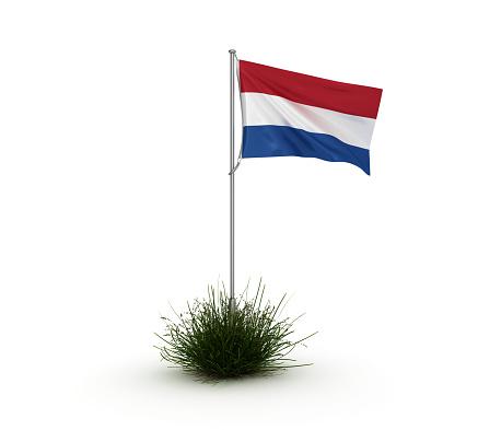 DUTCH Flag - 3D Rendering