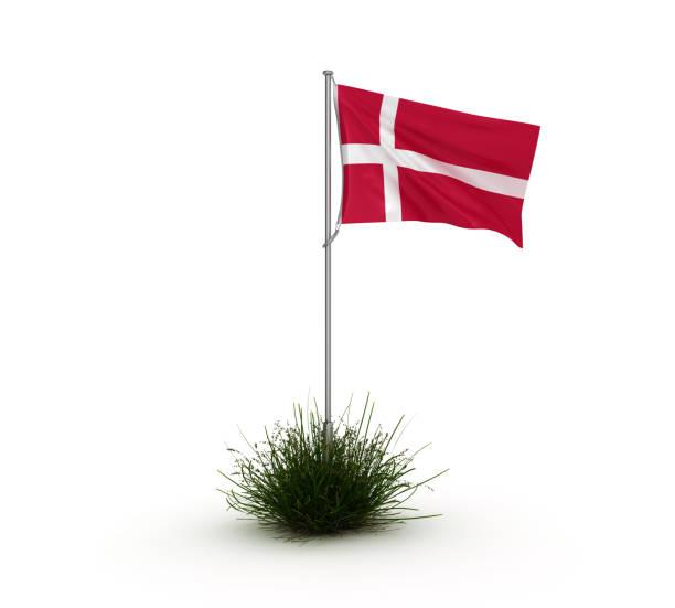 DANISH-Flag - 3D-Rendering – Foto