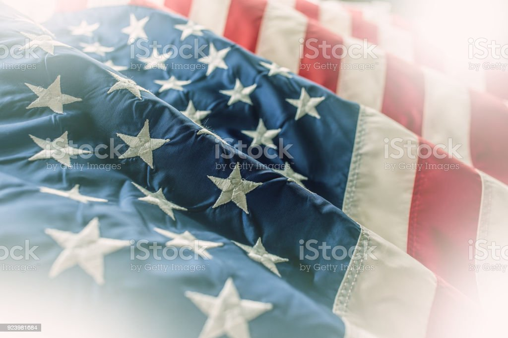 USA-Flagge. Amerikanische Flagge. Amerikanische Flagge im wind – Foto
