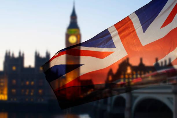 UK flag and Big Ben stock photo