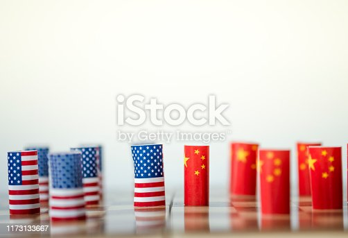 928696036 istock photo USA flag and China flag on chess board for tariff trade war between United States and China who conflict because of both increase tax barrier of import and export product. Government and business. 1173133667