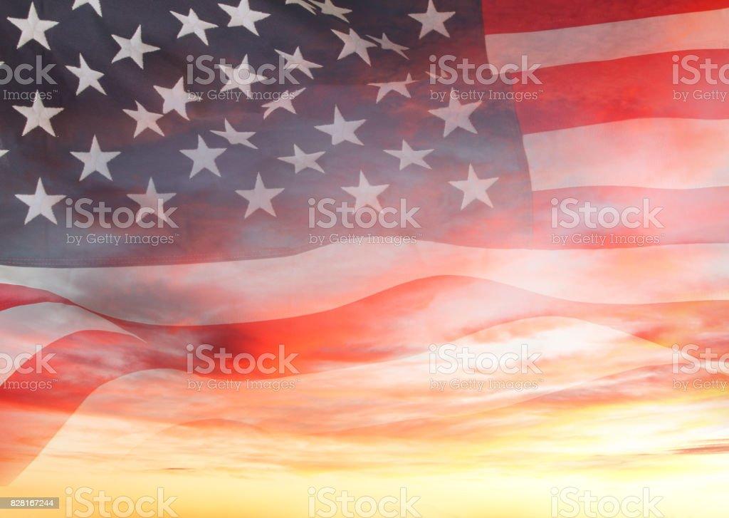 Flagge und sky – Foto