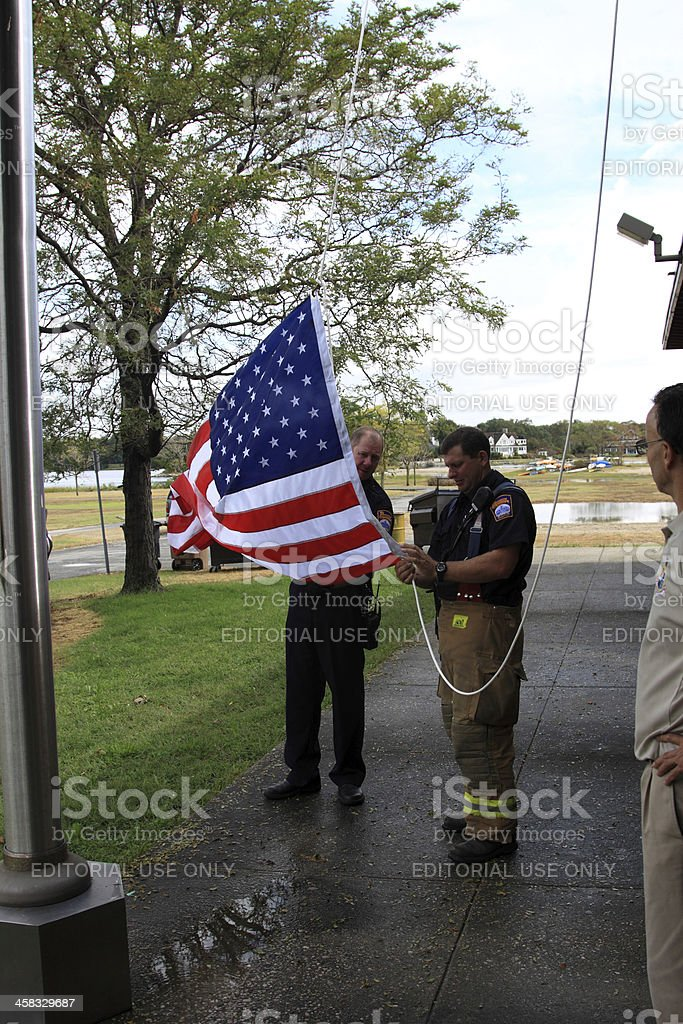 flag anew stock photo