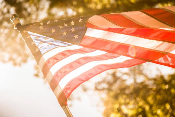 USA Flagge Hintergrund für Memorial Day, 4. Juli. – Foto
