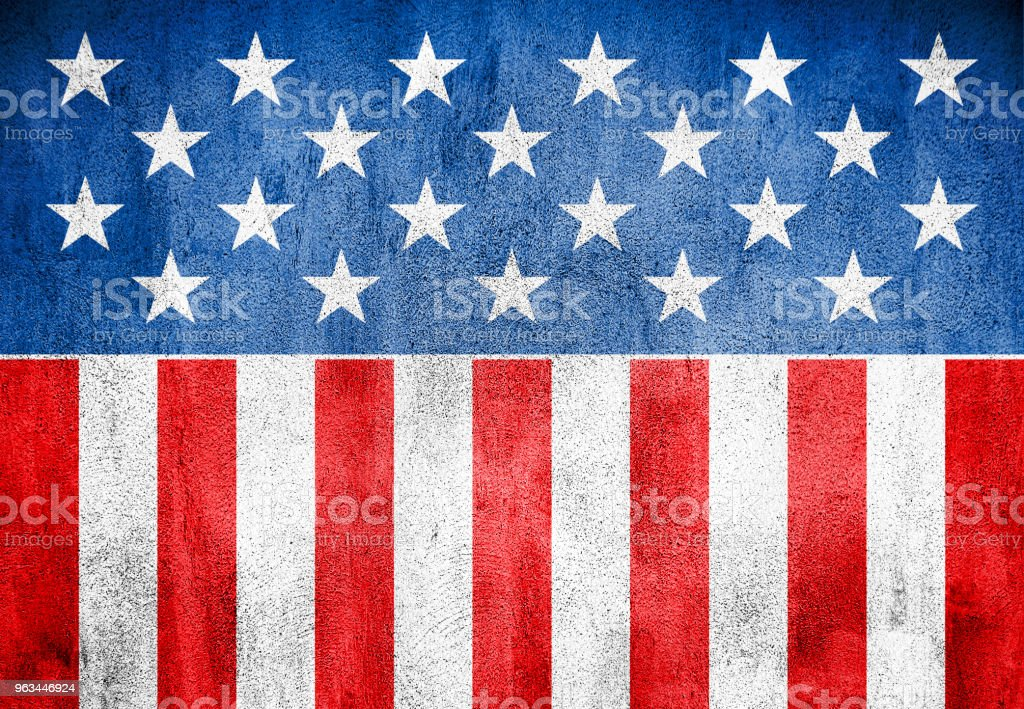USA flag background grunge style stock photo