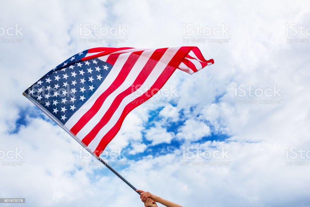USA flag background, Independence Day, July Fourth symbol stock photo