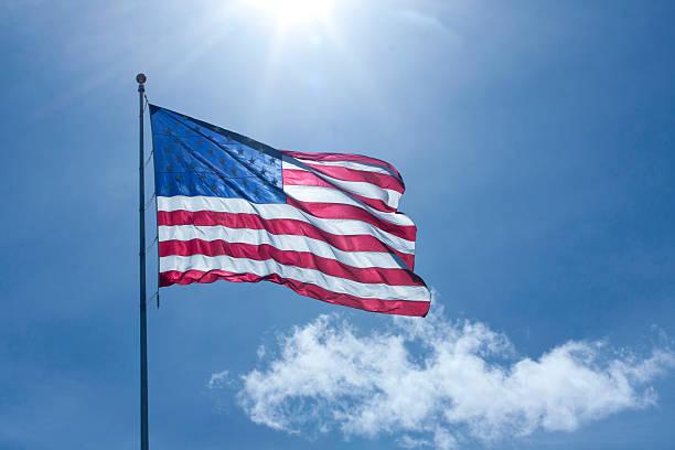 Flag, Back-lit stock photo