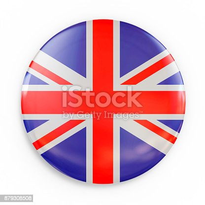 istock flag badge - Great Britain 879308508
