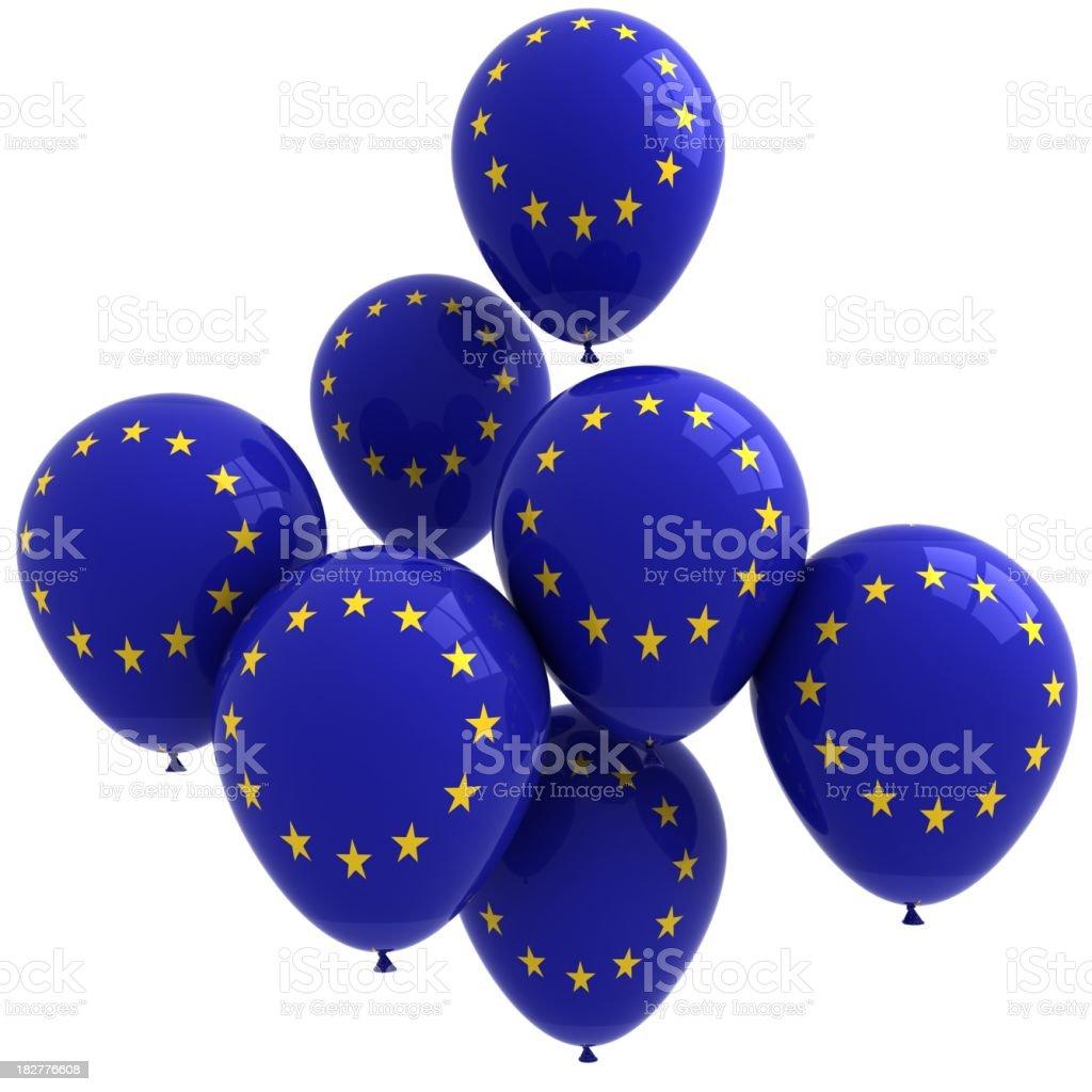 EU Flag Balloons royalty-free stock photo