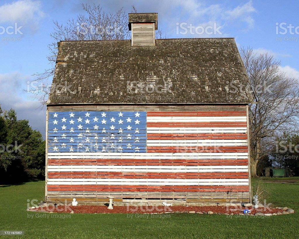 Flag Barn stock photo