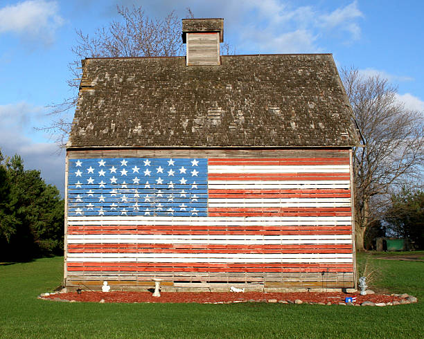 Flag Barn stock photo