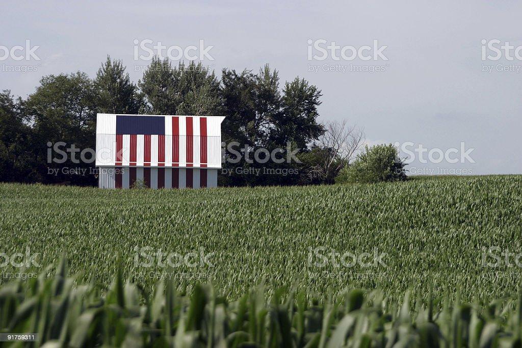 Flag Barn royalty-free stock photo