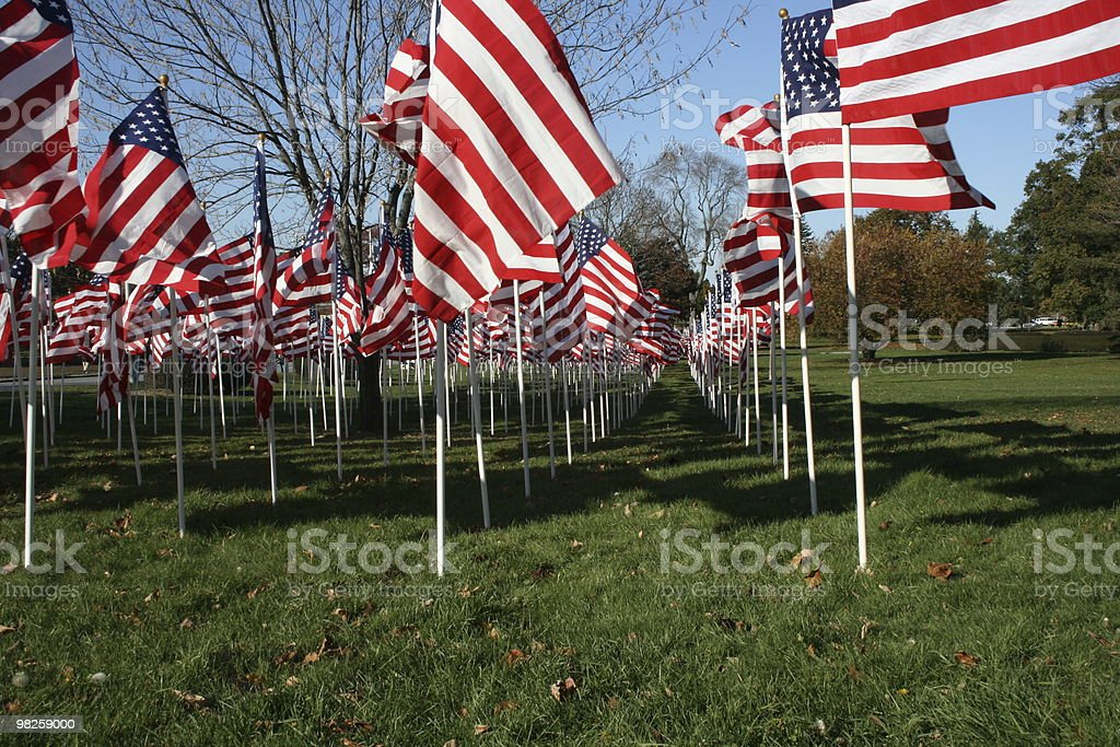 flag battalion up close royalty-free stock photo