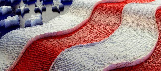 US flag Box Grid stock photo