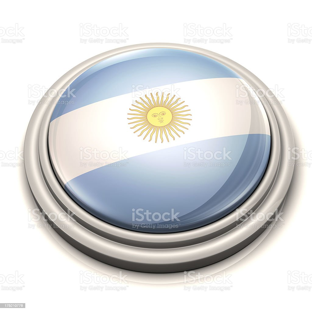 Flag Button -  Argentina royalty-free stock photo