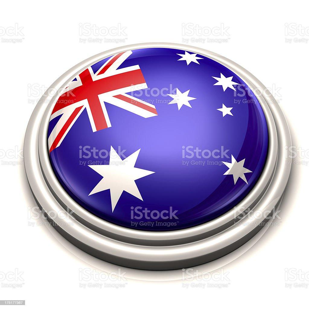 Flag Button - Australia royalty-free stock photo