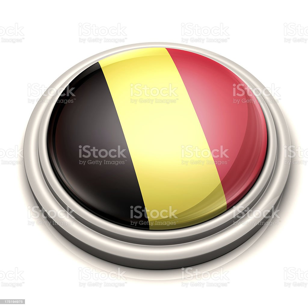 Flag Button - Belgium stock photo