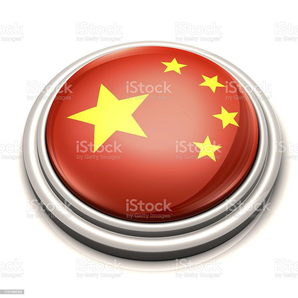 Flag Button - China stock photo