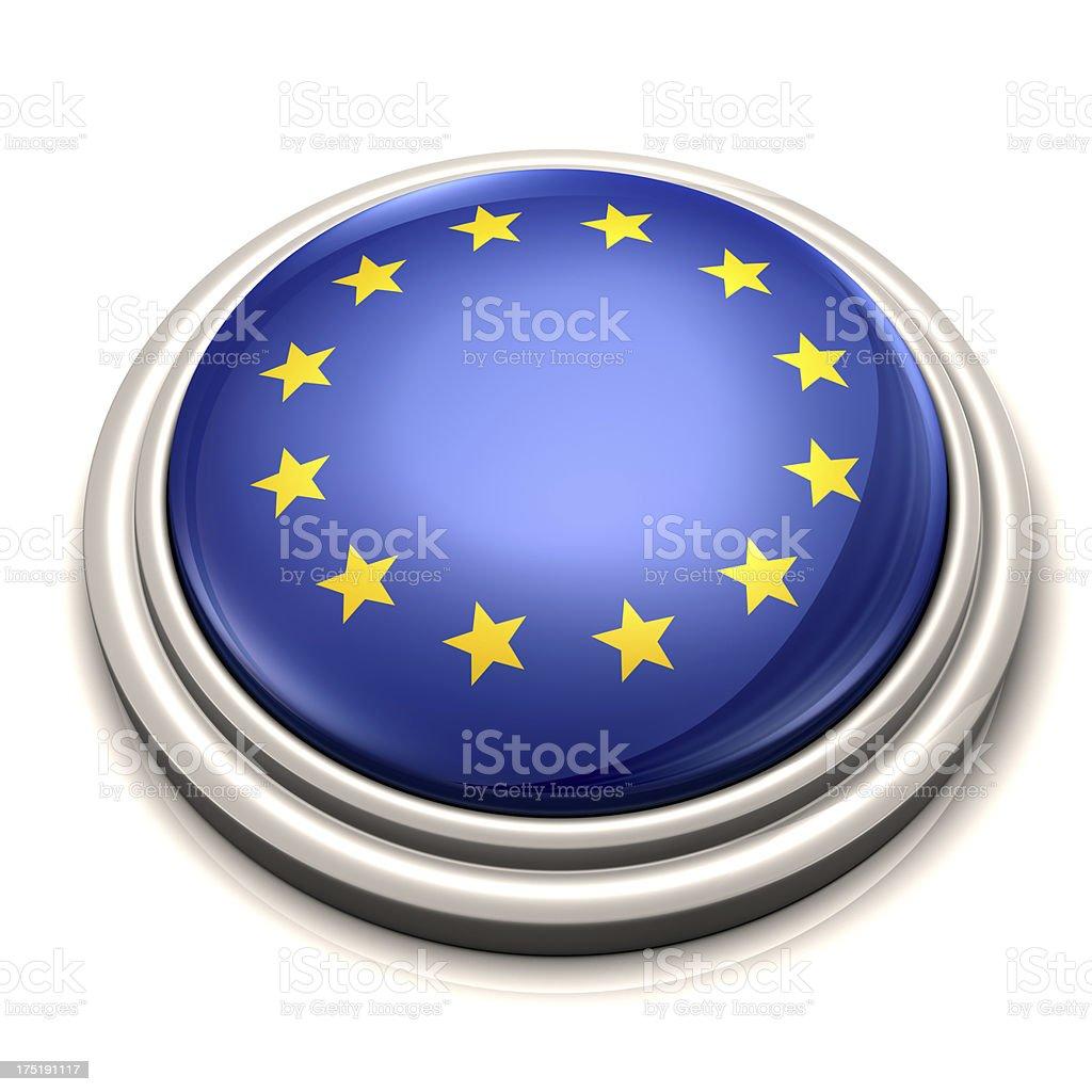 Flag Button - European Union royalty-free stock photo