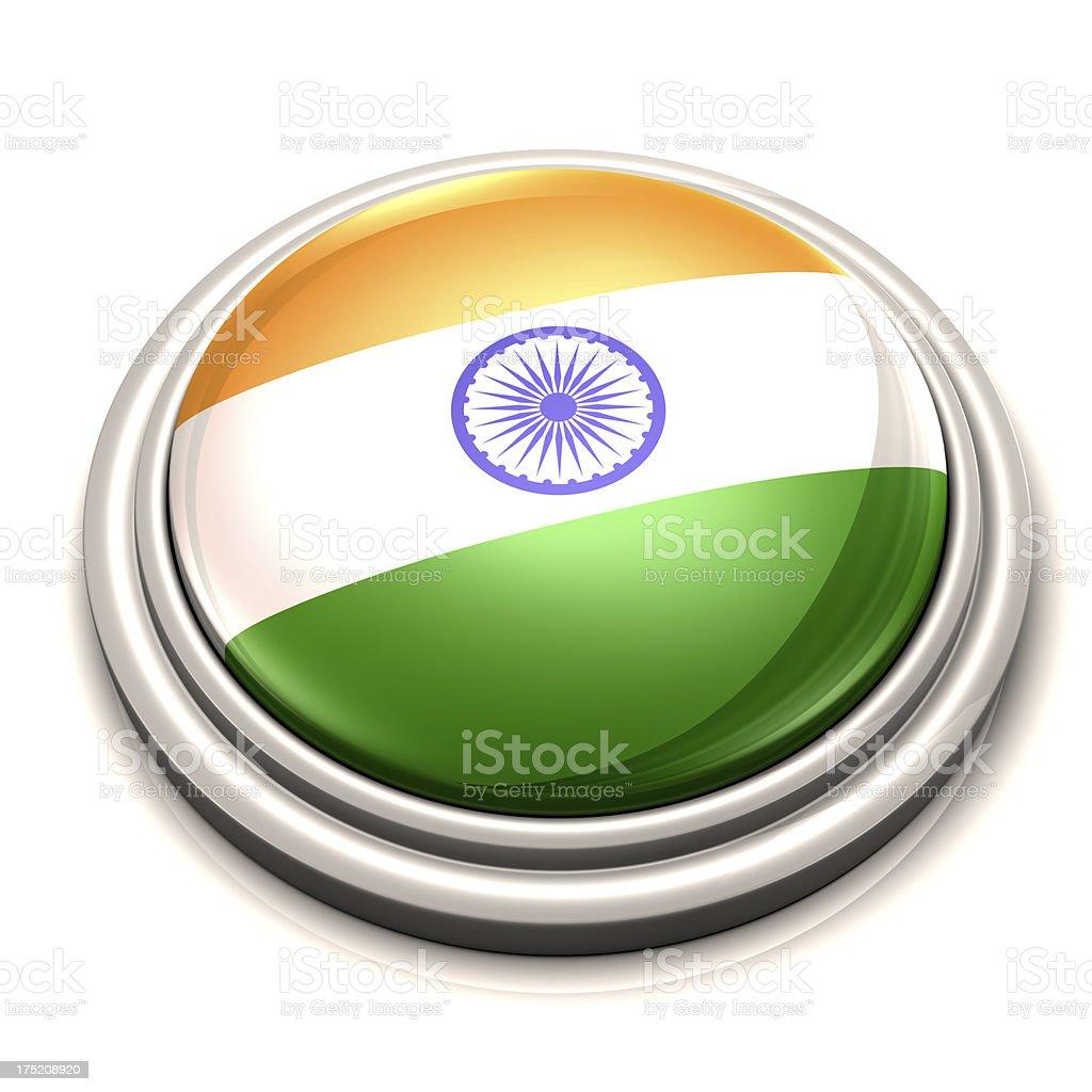 Flag Button - India royalty-free stock photo