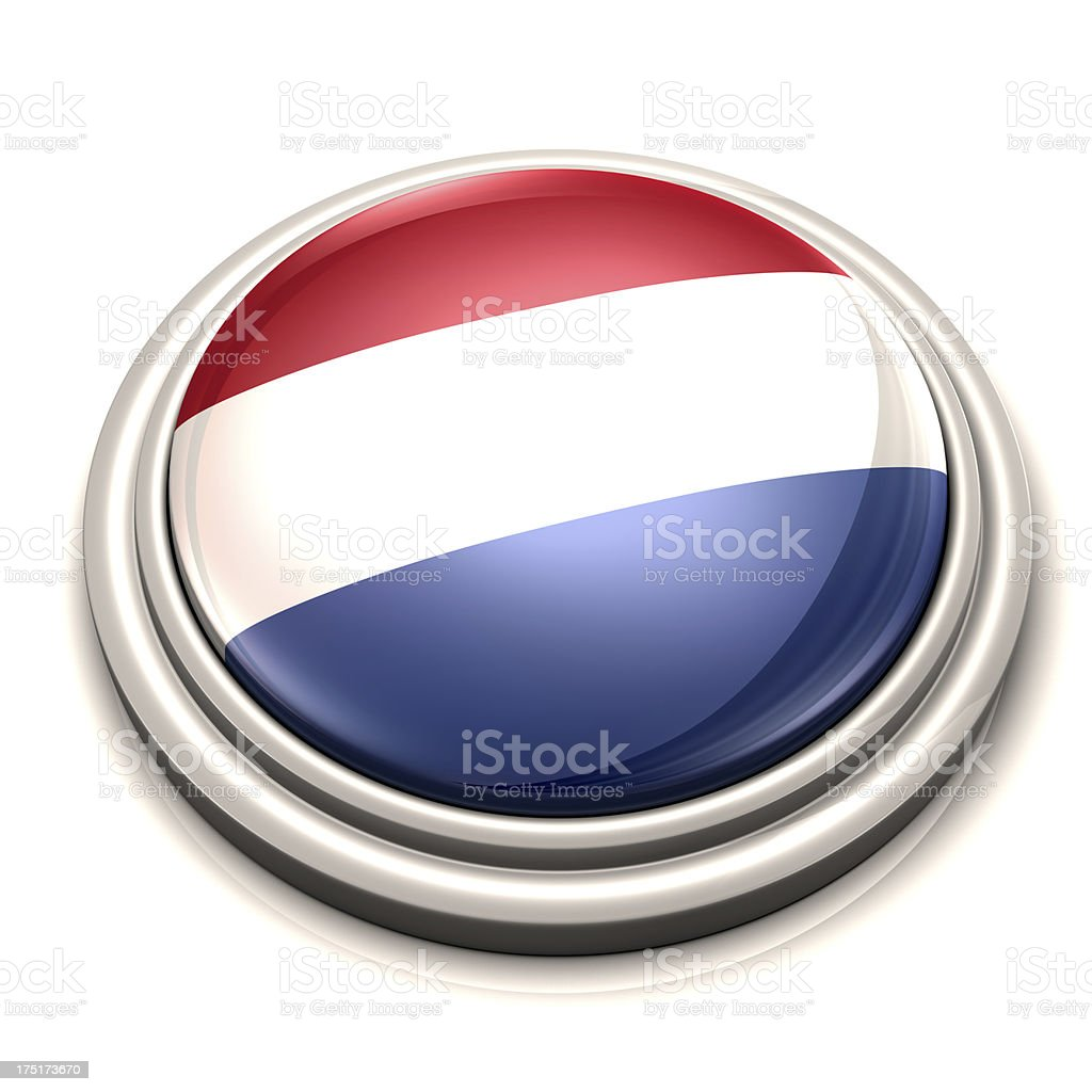 Flag Button - Netherlands stock photo