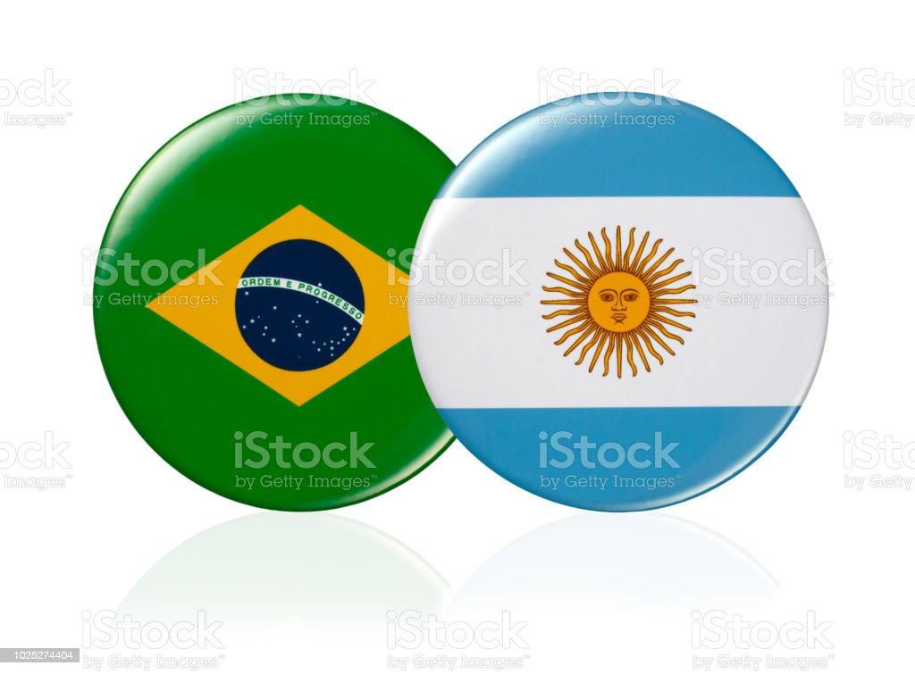 Bandera de botón - foto de stock