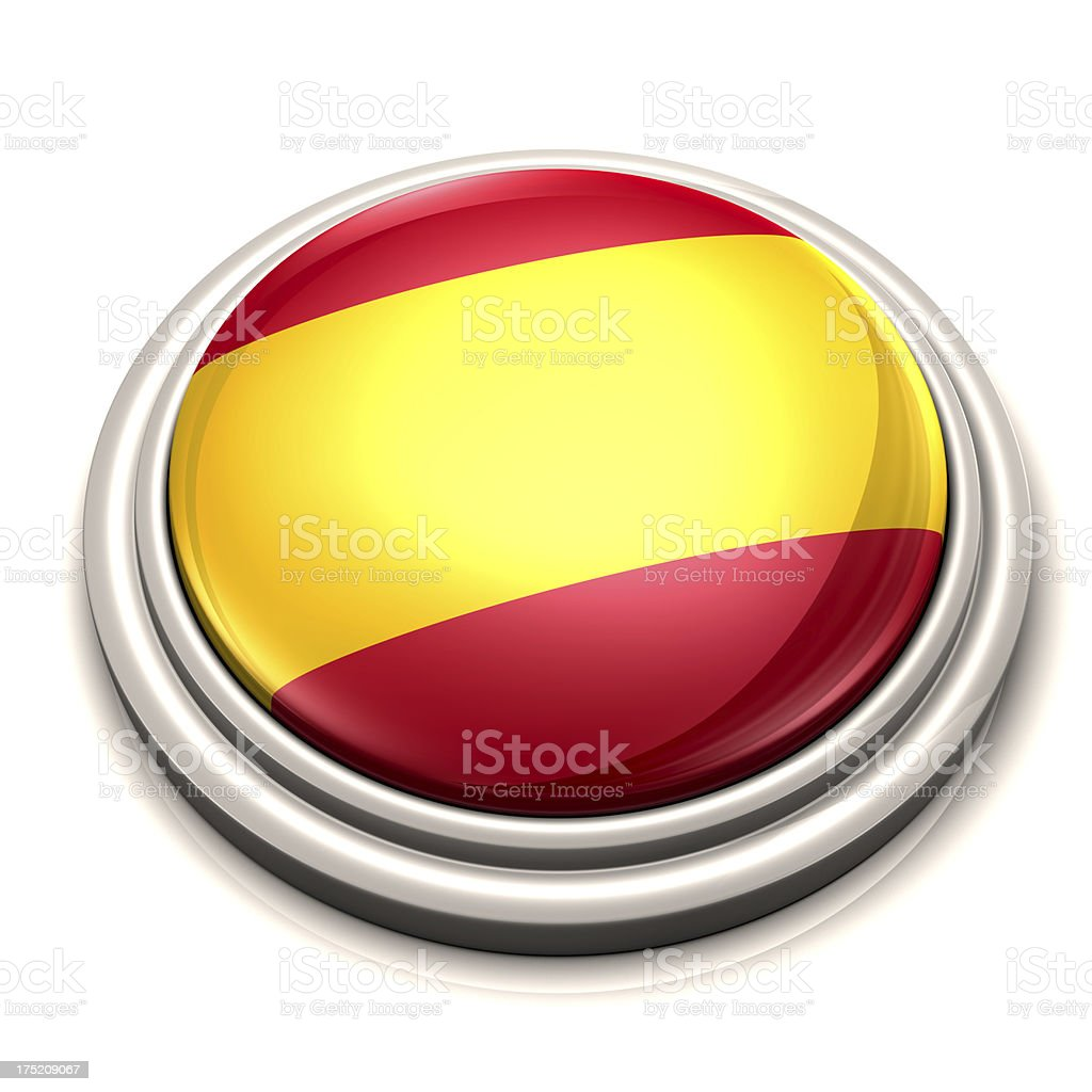 Flag Button - Spain royalty-free stock photo