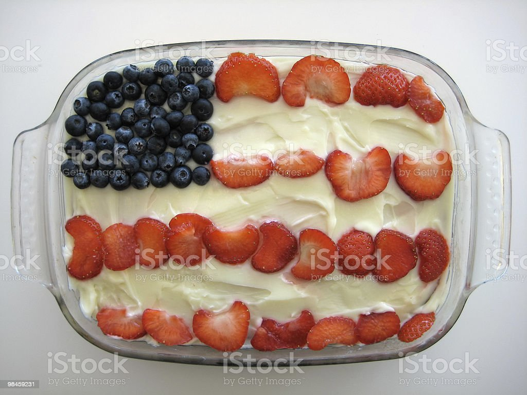 Flag Cake royalty-free stock photo