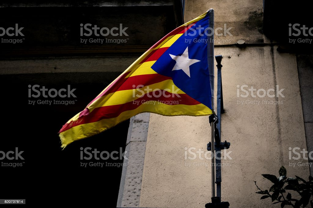 Flag Catalonia independence stock photo