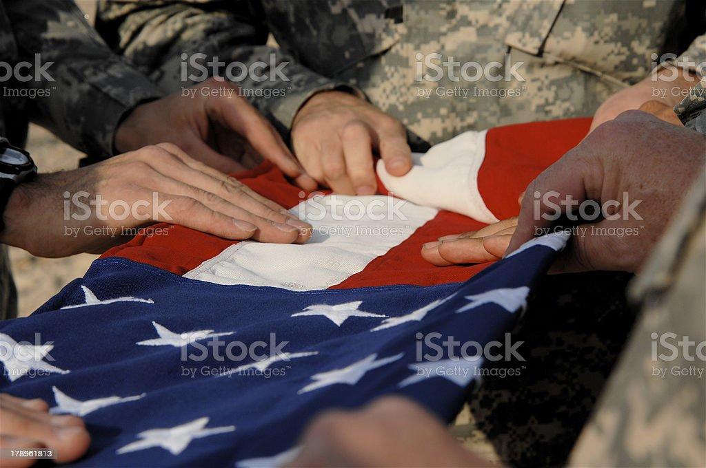 Flag Ceremony stock photo