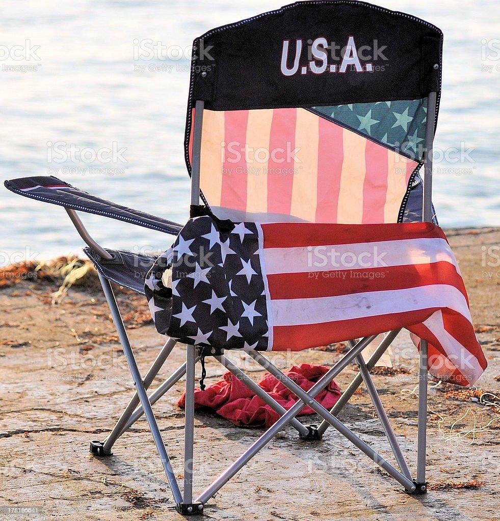 ... Flag Chair Stock Photo ...