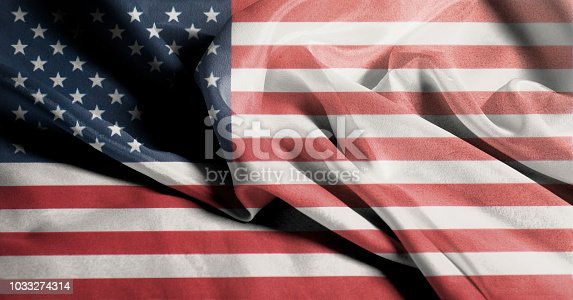 istock USA flag. Closeup of United States of America Rippled Waving Flag 1033274314
