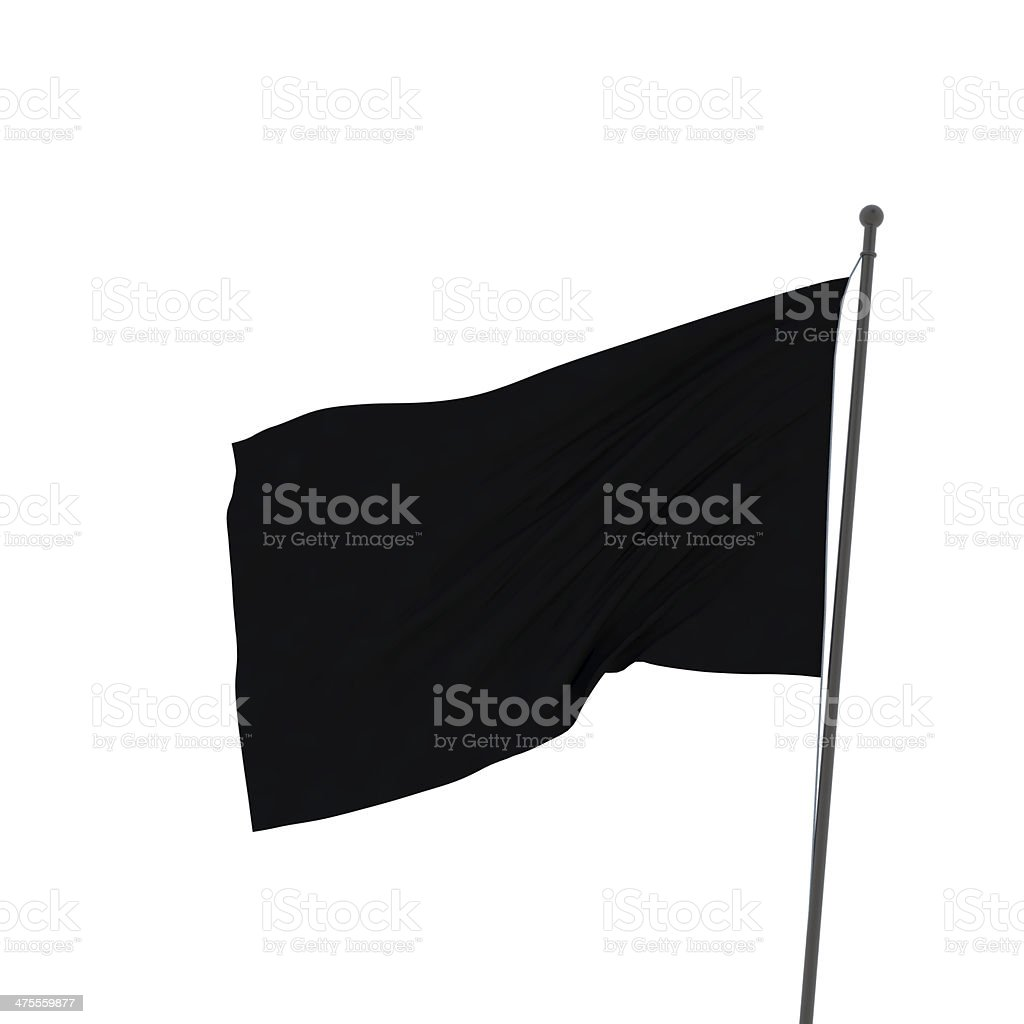 flag collection XXL black flag stock photo