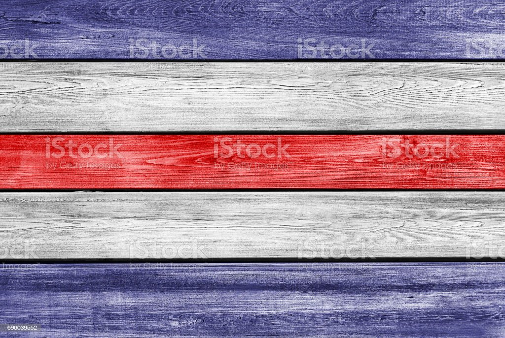 USA flag colors on wood planks background stock photo